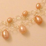 2 Row, 2 size Pink Pearl Necklace