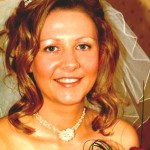 Bride with Crystal Tiara & Flower Frill necklace