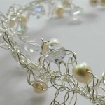 Detail Crystal and Pearl Necklace