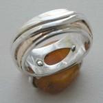 Inside view - amber slice ring