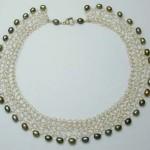 Lace collar grey pearls