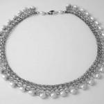 Oxidised lace necklace