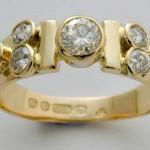 Remounted diamond ring