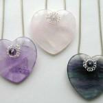 Semi Precious Hearts Pendants