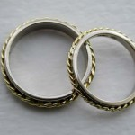 Wedding Bands in 18carat white gold with Y twists
