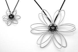 Web flower pendants